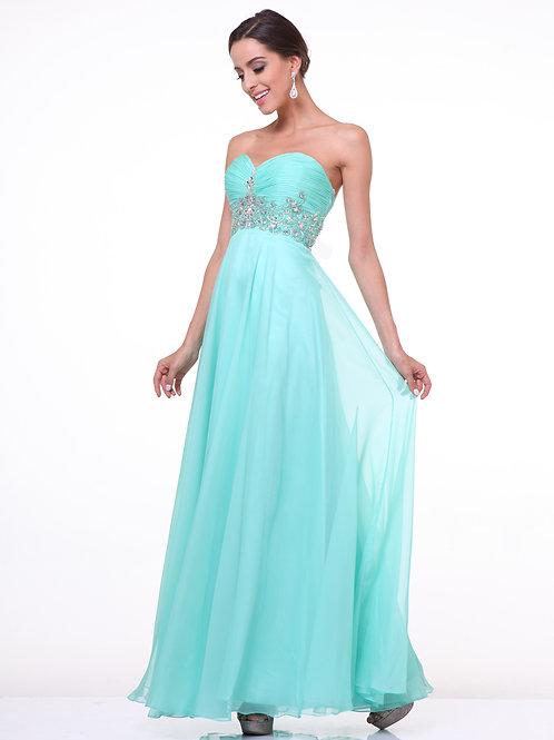 Vestido Aqua Strapless