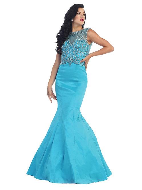 Vestido Turquesa Sirena