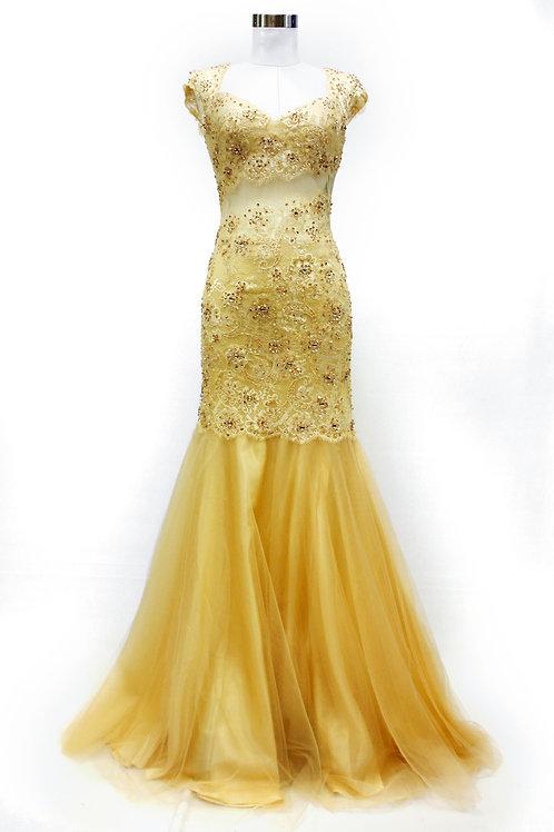 Vestido color champangne
