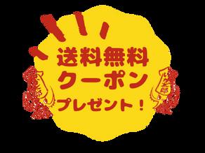 2月より送料無料クーポン配布!