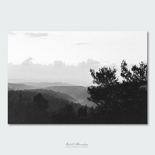 הרי ירושלים צילום שחור לבן