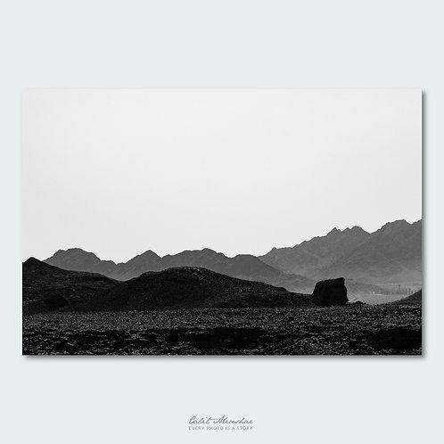 נוף הררי, צילום שחור לבן, תמונה למכירה