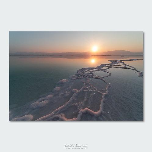 זריחה בים המלח, שתי שמשות, תמונה למשרד