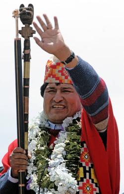 Bolivia´s president Evo Morales