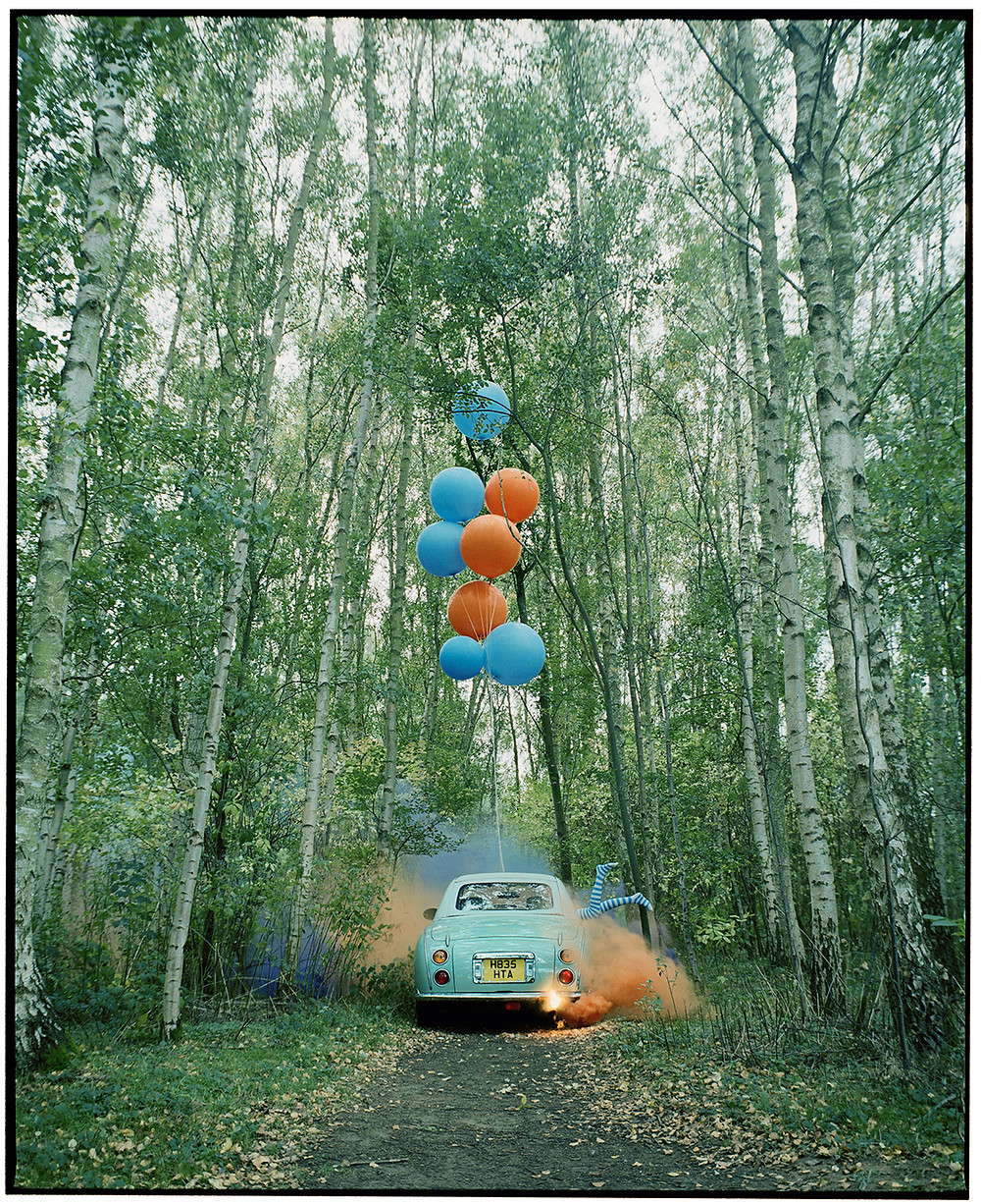 Photo from 'The Twins and the Green Car' series by Vikram Kushwah