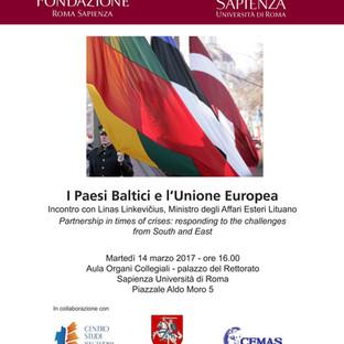 I Paesi Baltici e l'Unione Europea. 14 marzo 2017