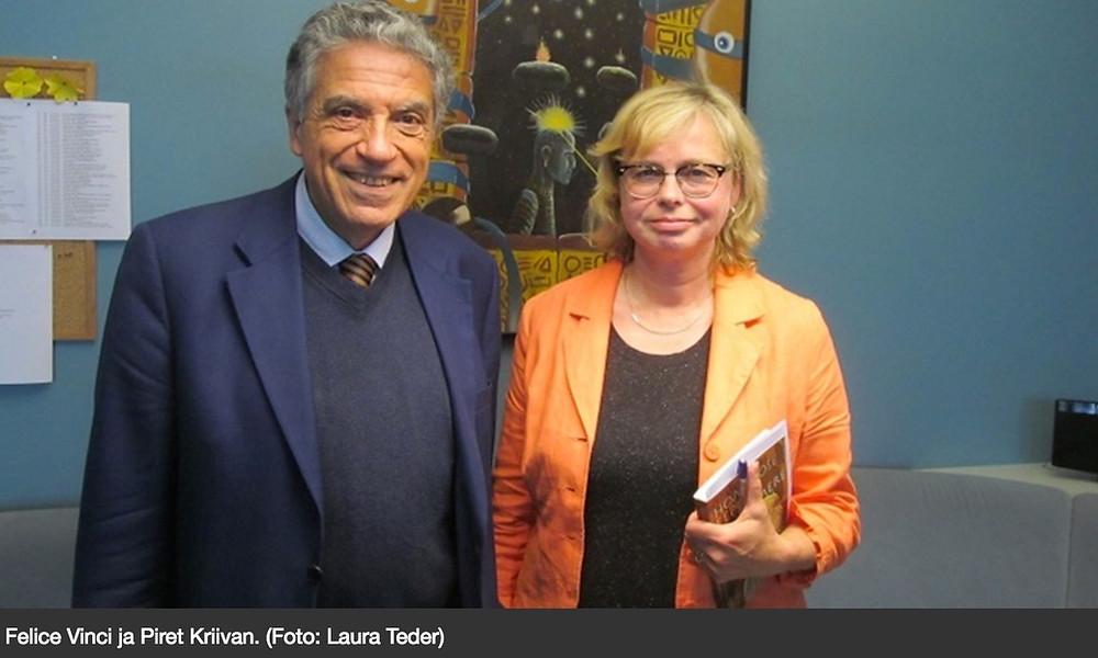 2014 aastal käis itaalia mütoloogia uurija Felice Vinci ka Eestis ja teda intervjueeris Eesti Raadios Piret Kriivan