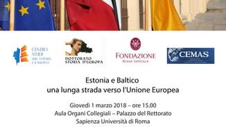 Estonia e Baltico una lunga strada verso l'Unione Europea