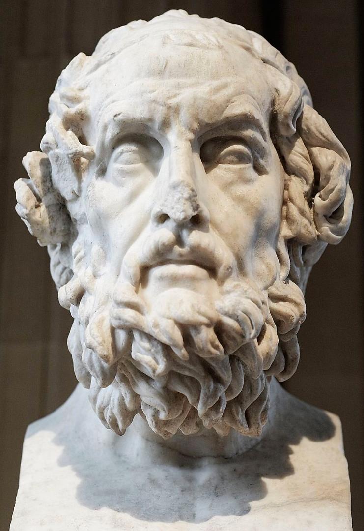 Ritratto immaginario di Omero, copia romana del II secolo d.C. di un'opera greca del II secolo a.C. Conservato al Museo del Louvre di Parigi.