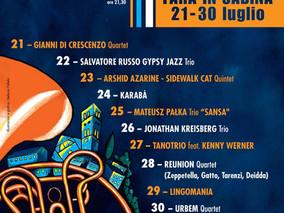 Fara Music Festival 2017. Dal 21 al 30 luglio
