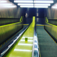green escalator..JPG