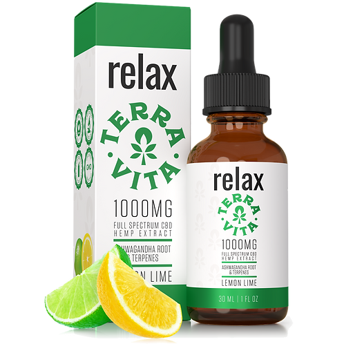 Relax 1000mg CBD Oil / Full Spectrum - TerraVita CBD