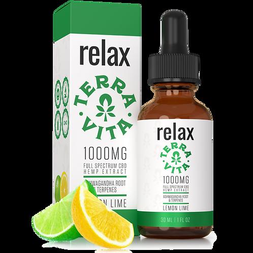 Relax 1000mg Oil / Full Spectrum - TerraVita