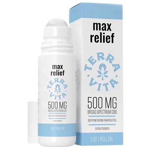 Max Relief: Cooling CBD Roll On - TerraVita