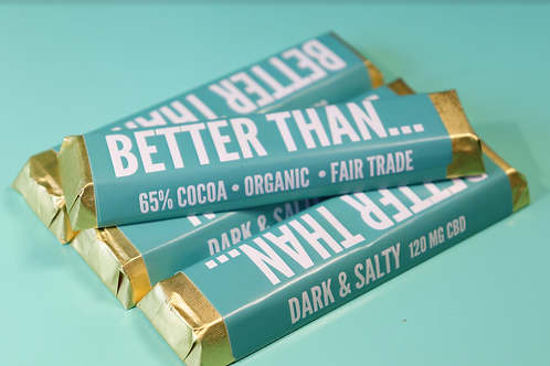 Dark & Salty Chocolate Bar - Miss Envy