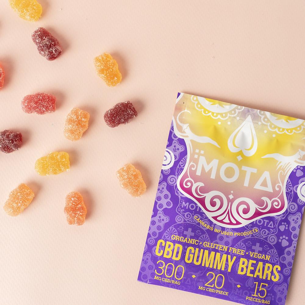 organic, vegan, CBD gummy bears