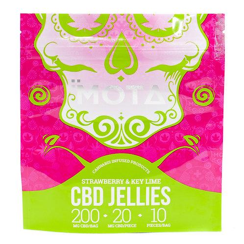 Strawberry & Key Lime Jellies 200mg ( 10ct ) - Mota