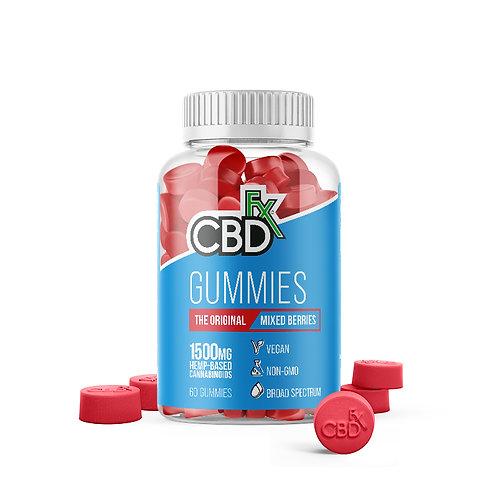 CBDfx Vegan Gummies 1500mg (60ct) - Broad Spectrum