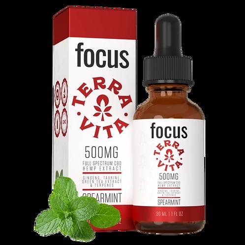 Focus 500mg Full Spectrum Oil- TerraVita CBD
