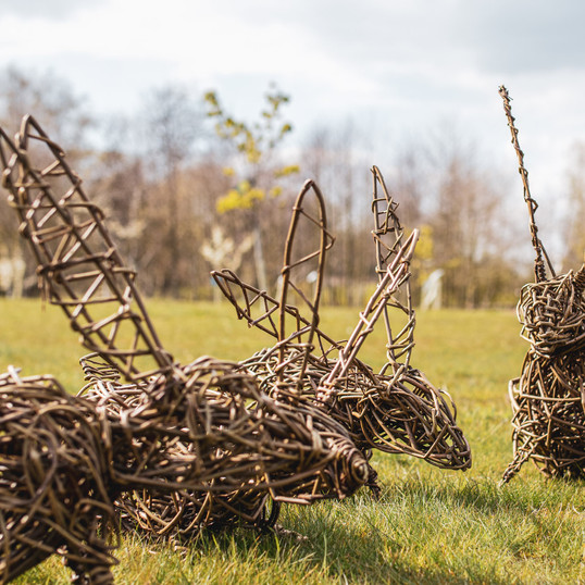 Willow Rabbit Sculpture