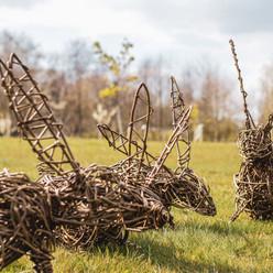 Willow Rabbit Sculpture