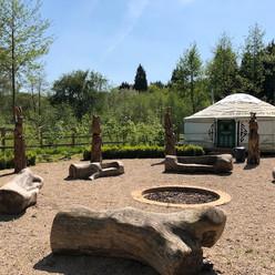 The yurt at Hilton Green