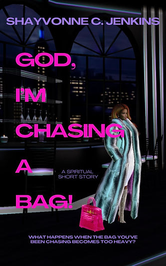 BOOK COVER CHASING A BAG