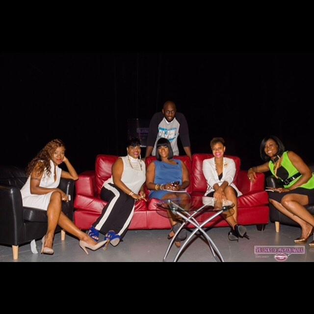 On Set of Ladies Of Madison Avenue