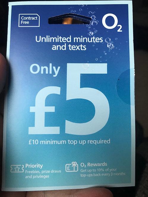 O2 pay as your go SIM card