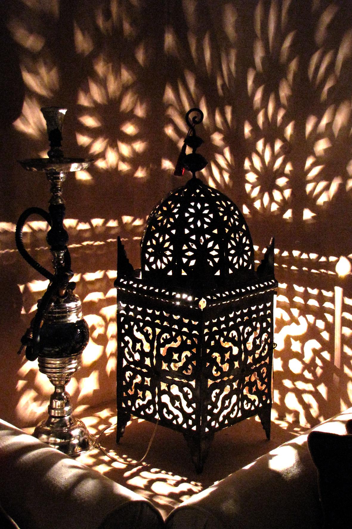 Lanterna em um Riad