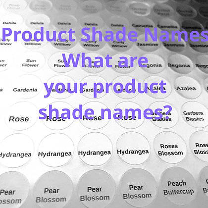 154 Custom Product Name Labels