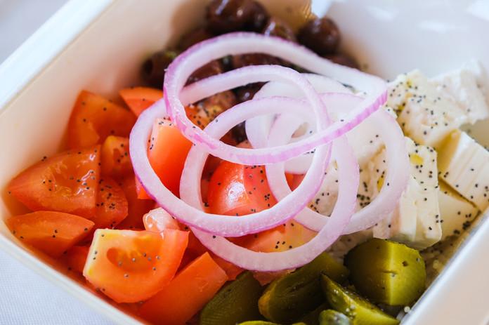 Poké bowl greco