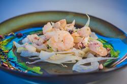 insalata di mare con finocchio croccante
