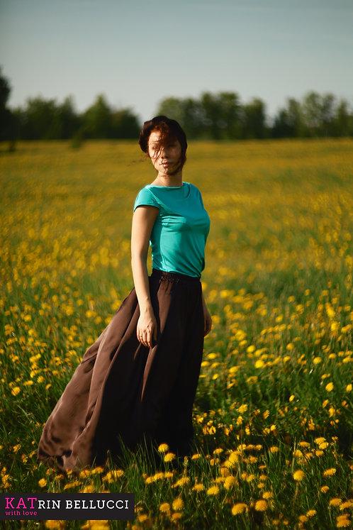 Шелковая юбка макси + платок «Шарм»  (4100 руб.)