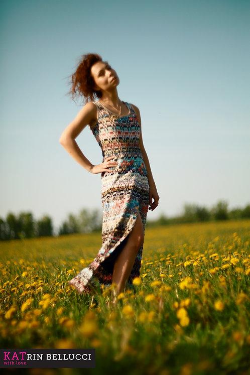 Платье макси с разрезом «Zigzag» (6500 руб.)