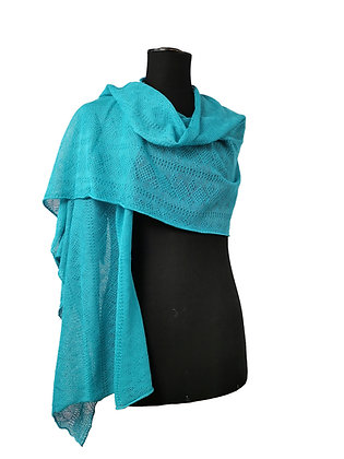Etole coton/lin turquoise