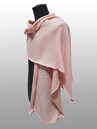 Echarpe légère coton pima rose