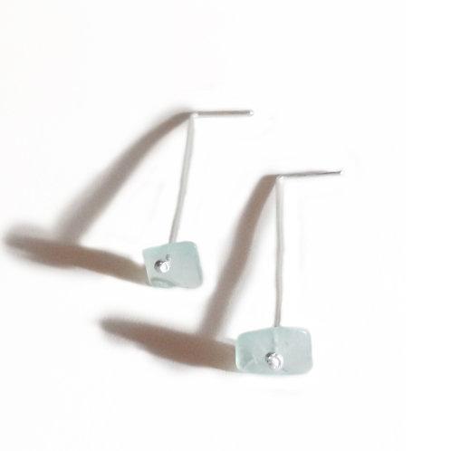 Boucles d'oreilles argent 925 & Fluorite