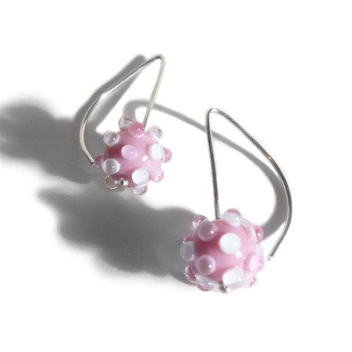 Boucles d'oreilles Virus Rose