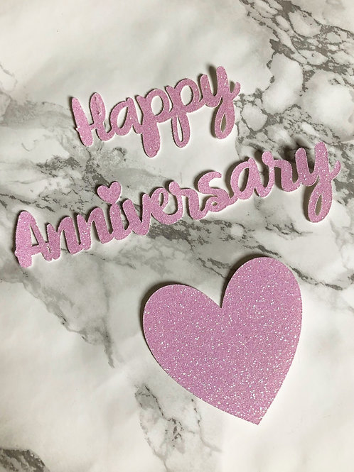 Anniversary Cupcake Toppers (pack of 6)