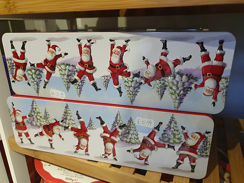 Embossed Dancing Santa Tin 200g