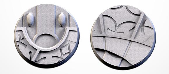 50mm bases 2 pack Magic Temples design
