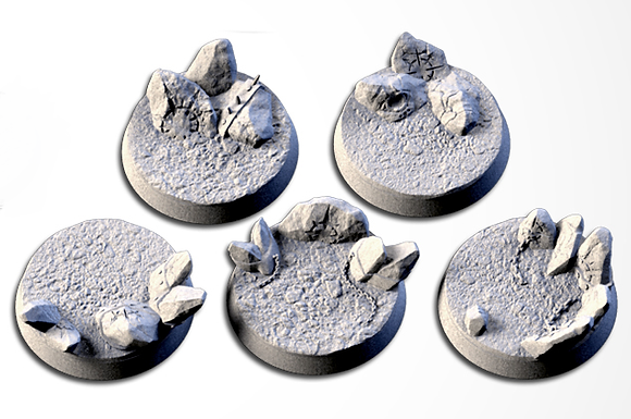 32mm bases 5 pack Chaos Hell design