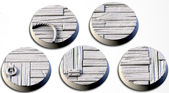 32mm bases 5 pack Wooden design