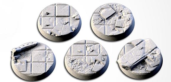 32mm bases 5 pack City Ruins design