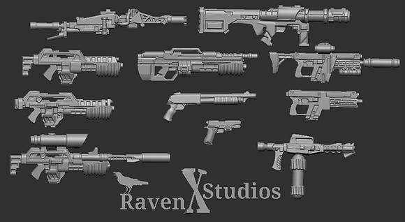 Weapons Bundle From RavenX Studios