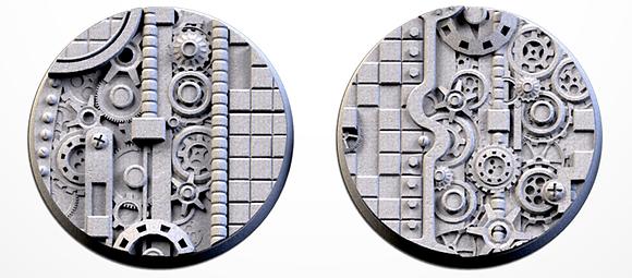 50mm bases 2 pack Steam Punk design