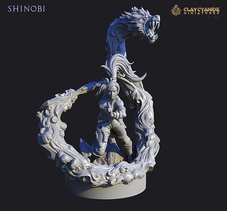 Shinobe from clay cyanide miniatures