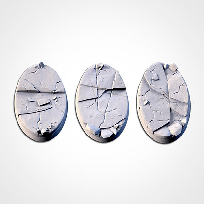 74mm by 43mm oval Bases 3 pack Frozen design