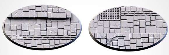 89mm by 52mm oval Bases 2 pack Dungeon design